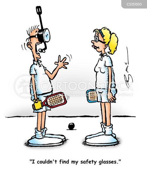 squash racquets cartoon