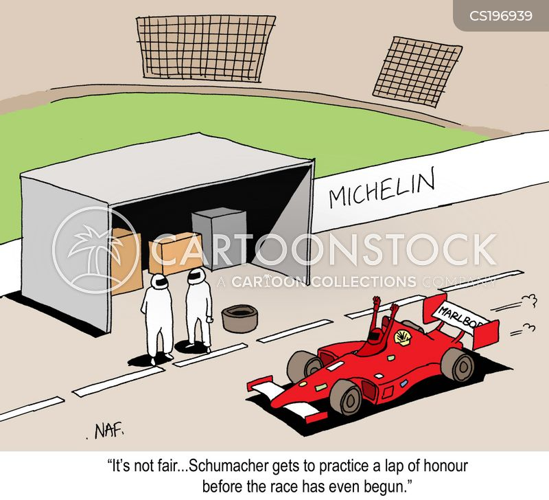 racing driver cartoon