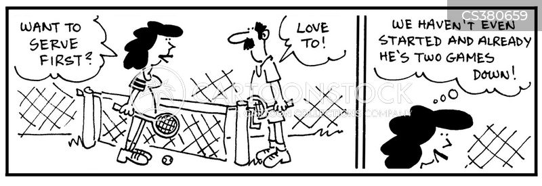 tennis score cartoon