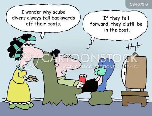 scuba dive cartoon