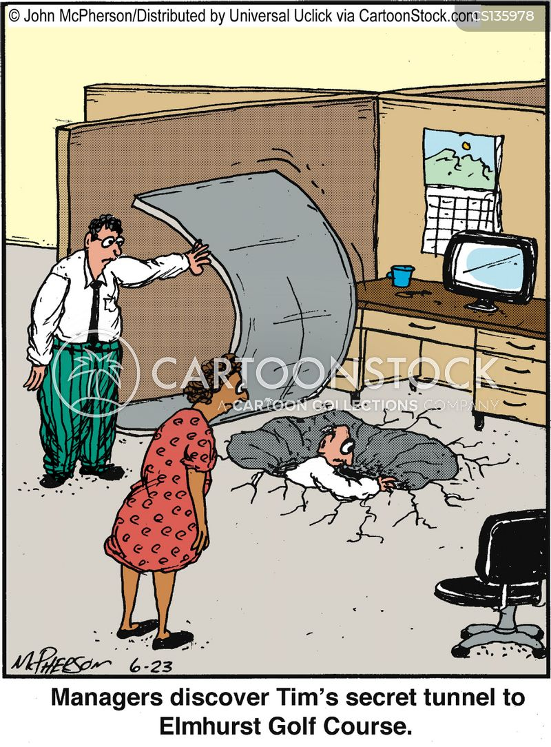 Escape tunnel cartoons and comics funny pictures from cartoonstock - Secret escapes london office ...