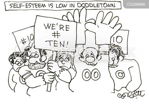 self-deprecation cartoon