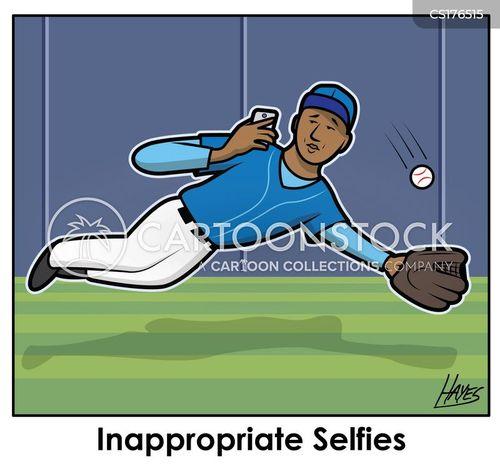 outfielder cartoon