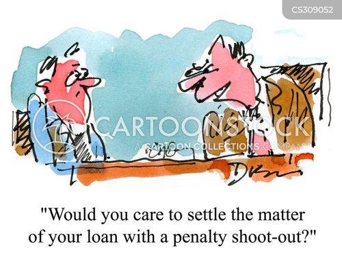 penalty shoot-out cartoon