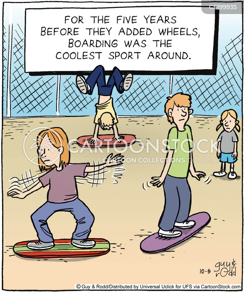 skateboard cartoon