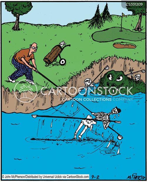 water hazards cartoon