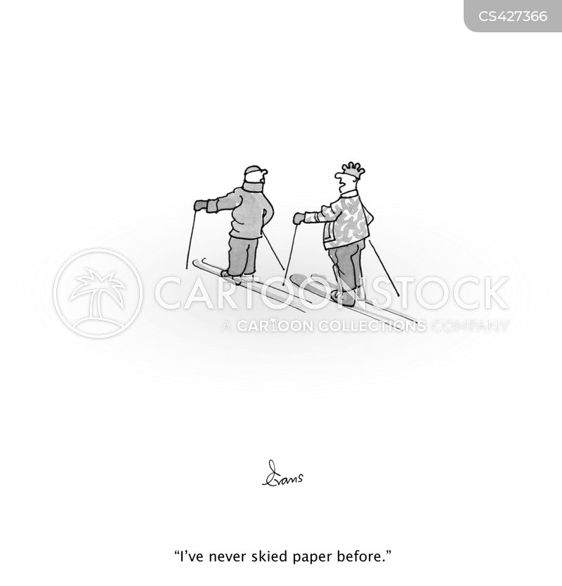 blank paper cartoon