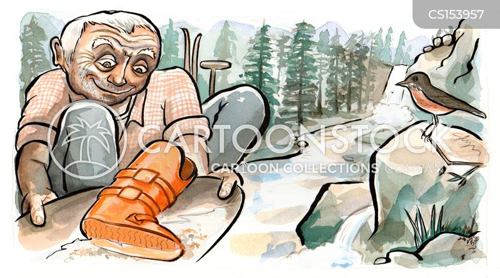 skiing equipment cartoon