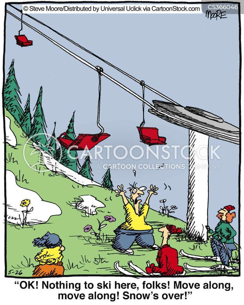 snow sports cartoon
