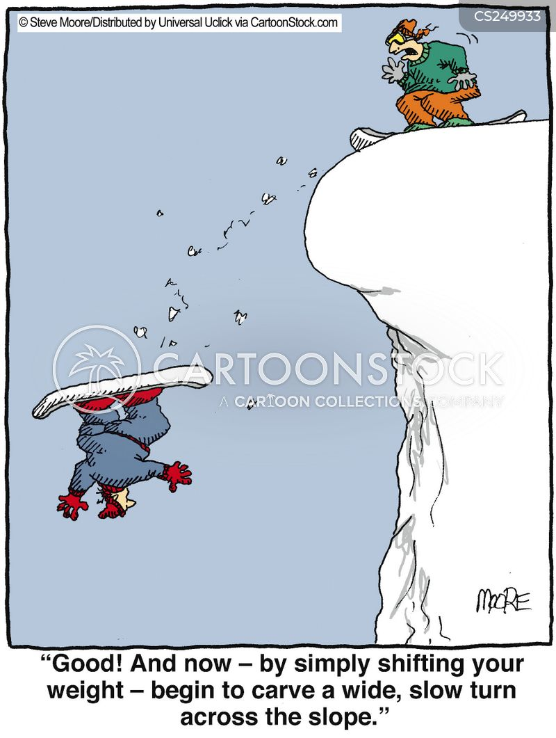 snowboards cartoon