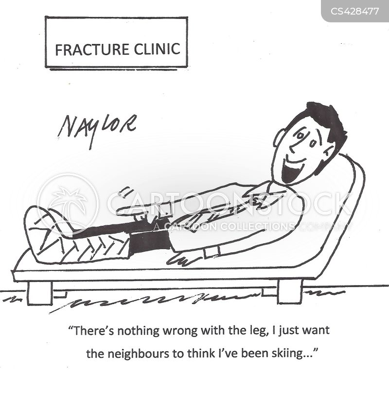 leg cast cartoon