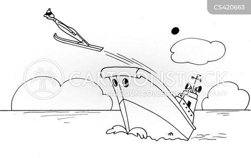 skiing holidays cartoon