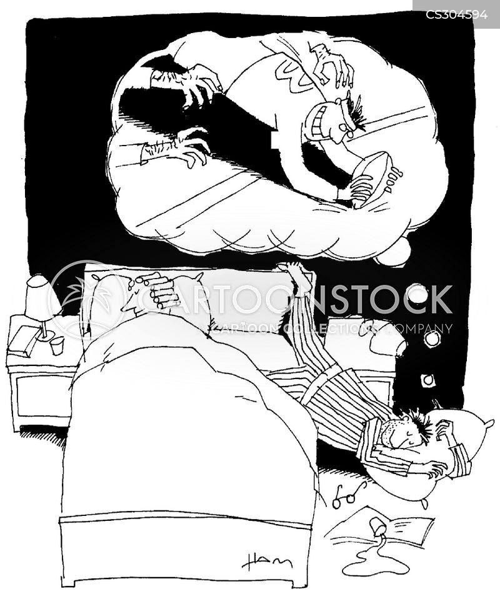 sleep-walking cartoon