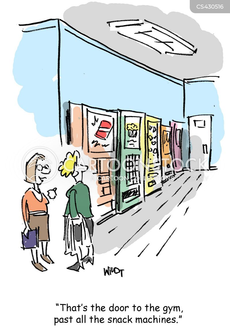 snack machine cartoon
