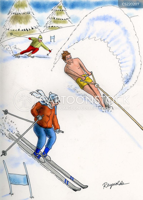 waterskier cartoon