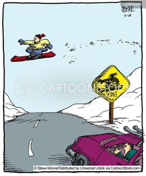 snowboarder cartoon