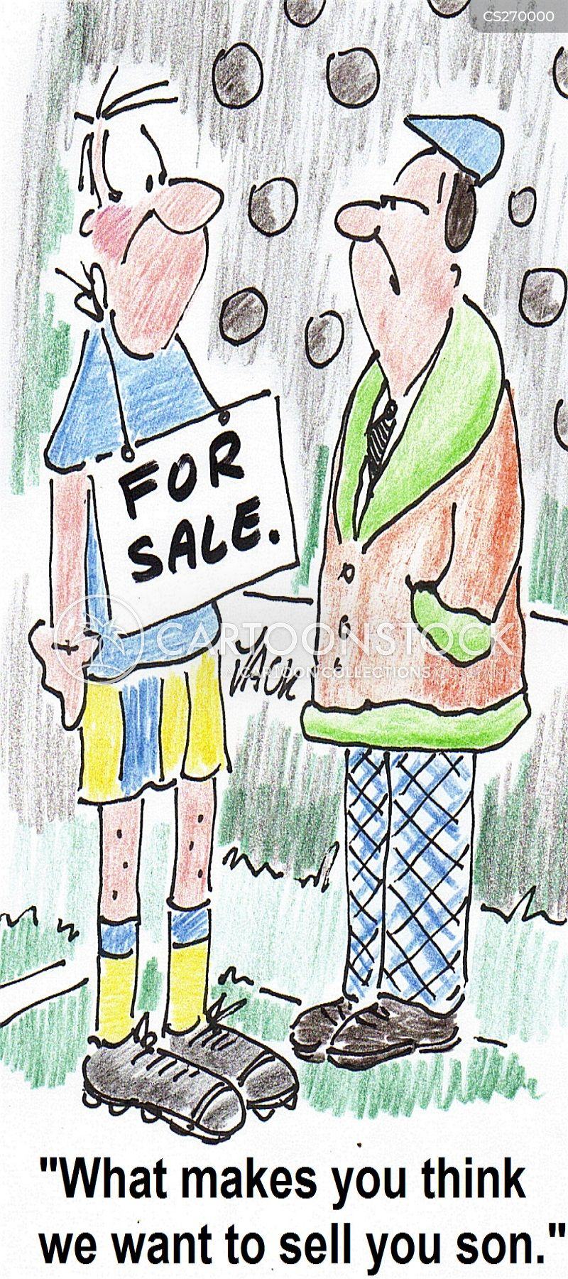for sale signs cartoon