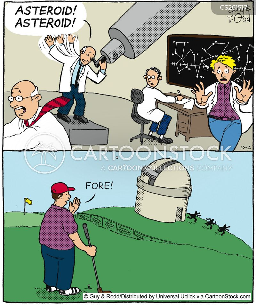 tee off cartoon