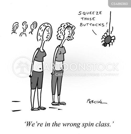 fitness classes cartoon