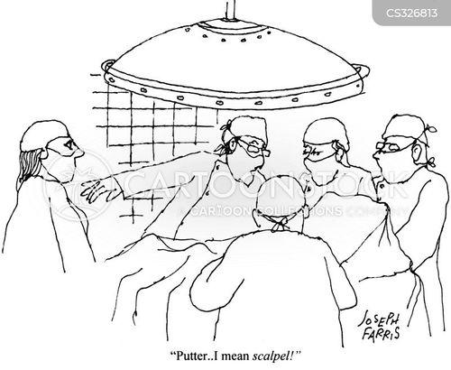 scalpel cartoon