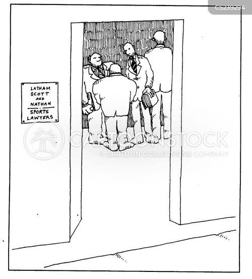 sports lawyer cartoon