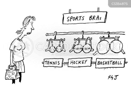 sportswoman cartoon