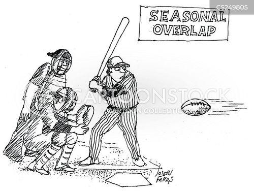 baseball season cartoon