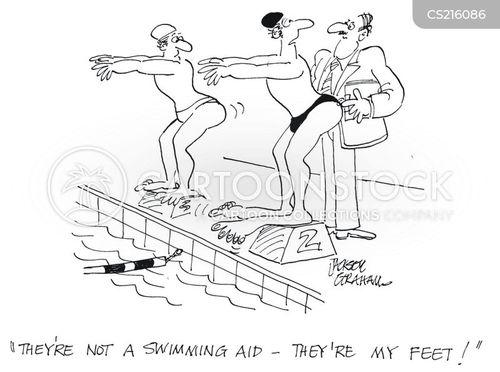 swimming aid cartoon