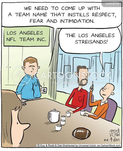 nfl franchises cartoon