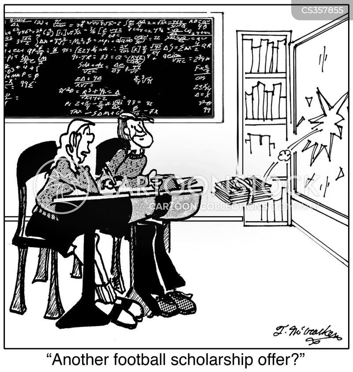 football scholarship cartoon