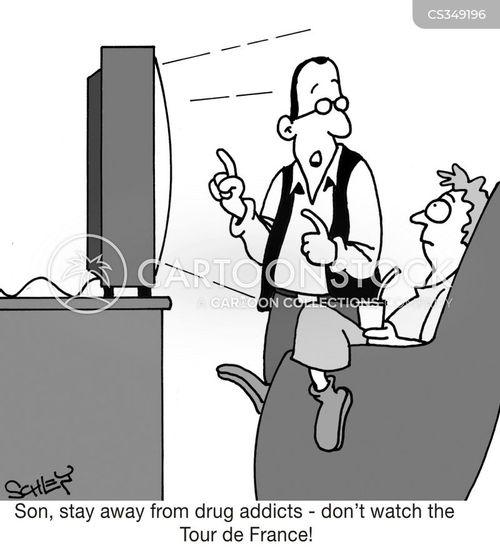 drugs in sport cartoon