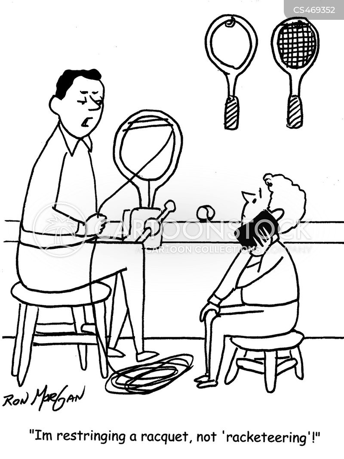 racketeering cartoon
