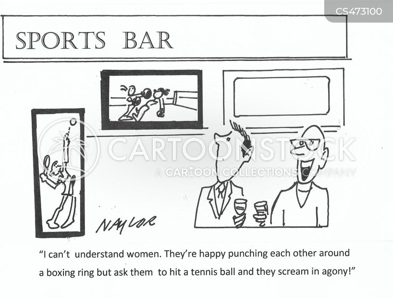 sport bars cartoon