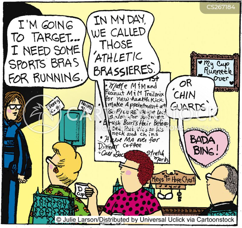 e9790448ba Sports Bras Cartoons and Comics - funny pictures from CartoonStock