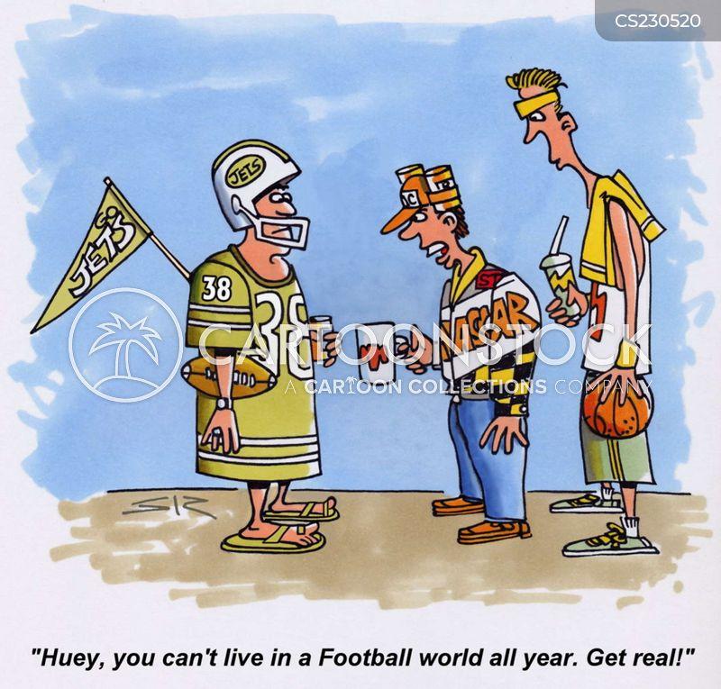 sports hero cartoon