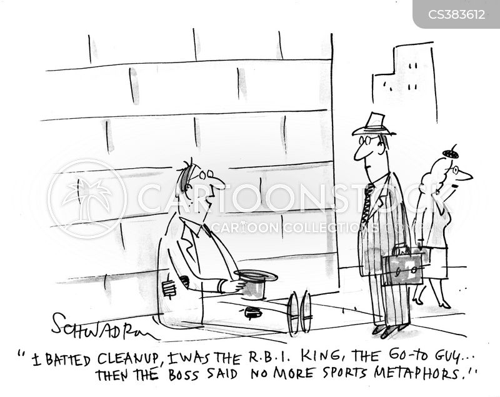 sports metaphor cartoon