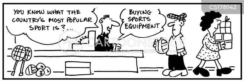sports stores cartoon