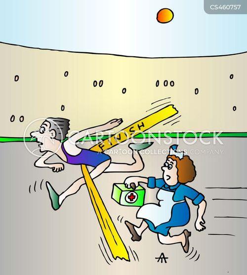sports doctors cartoon