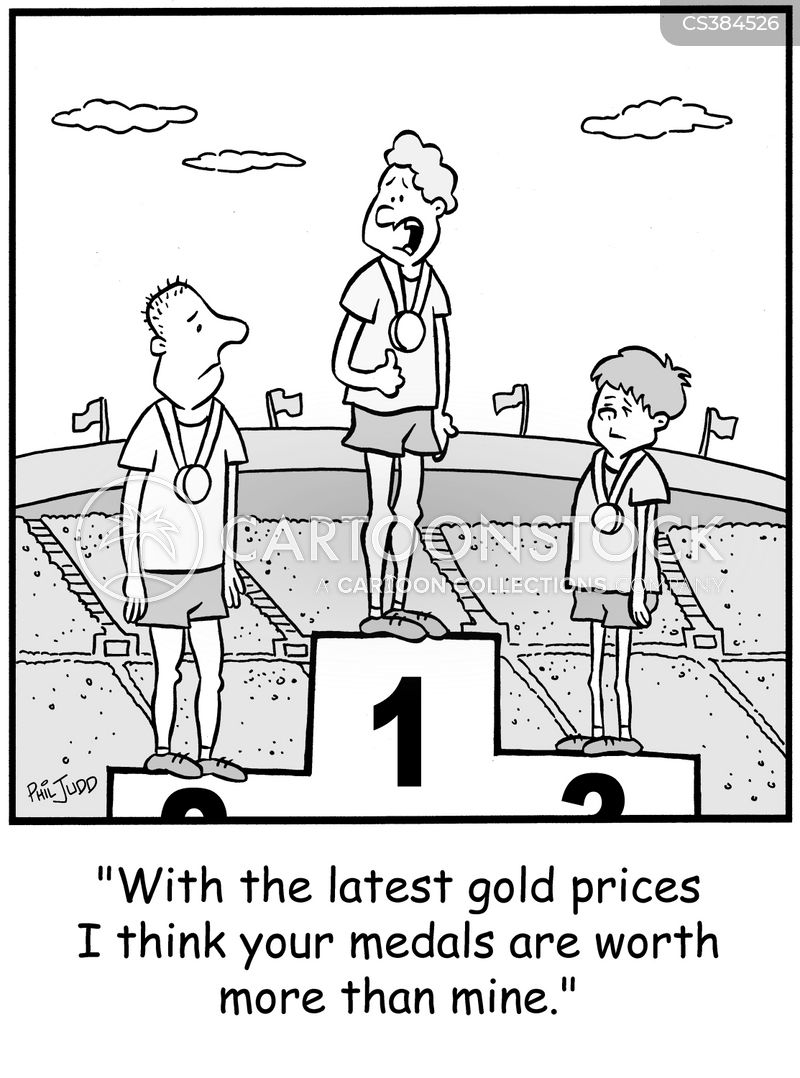 gold price cartoon