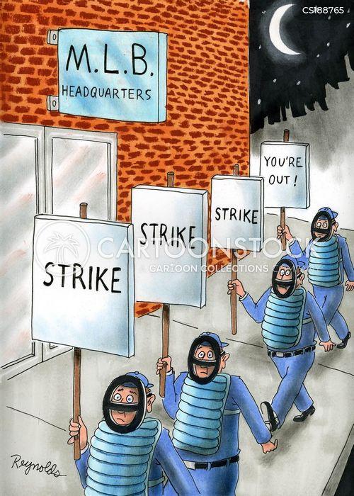 baseball match cartoon