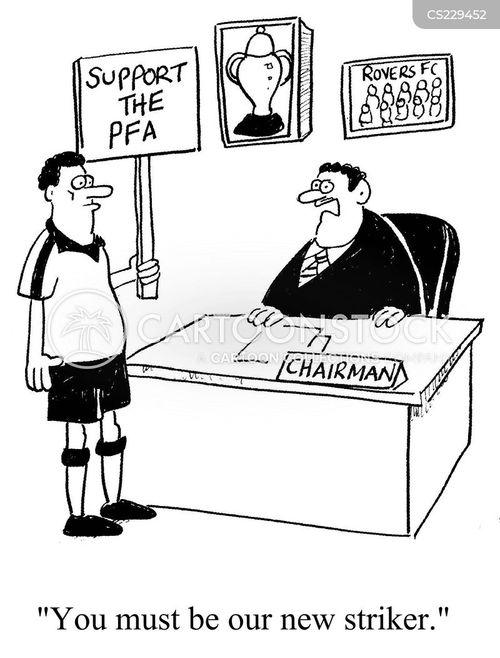picketers cartoon