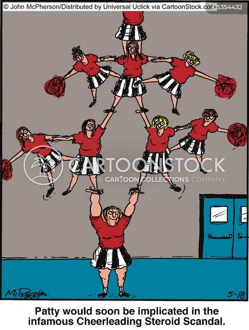 cheer leading cartoon