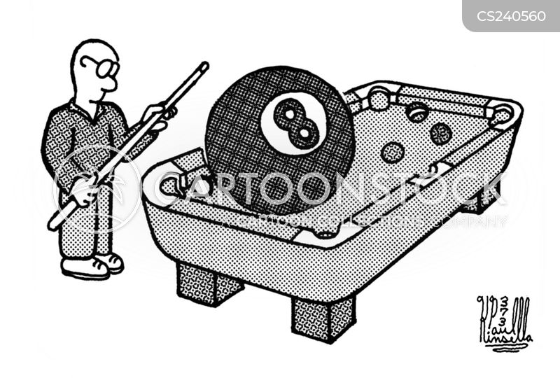 behind the eight ball cartoon