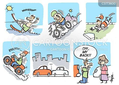 waterski cartoon