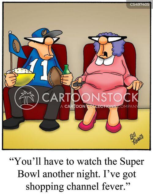 shopping channels cartoon