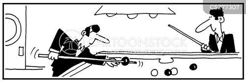 pool table cartoon