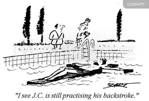backstroke cartoon