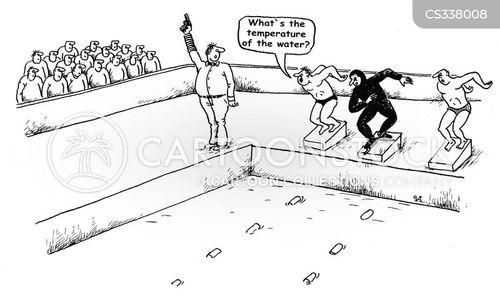 test the water cartoon