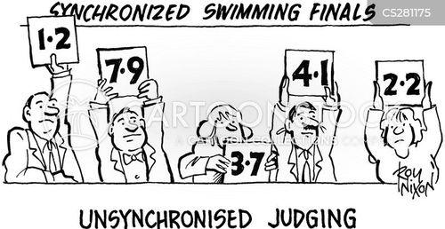 synchronised swimming cartoon