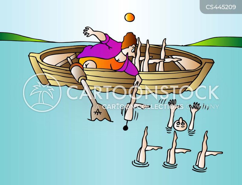 synchronised swimmer cartoon
